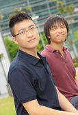 Portrait of two asia man — Stock Photo