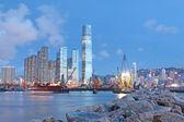 Noc hongkong — Zdjęcie stockowe
