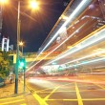 Busy traffic night in finance urban — Stock Photo #6594651
