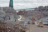 Scrap yard recycling — Stock Photo