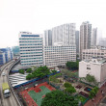 Traffic in downtown, hongkong — Stock Photo
