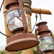 Stock Photo: Rust and brocken kerosene lamp