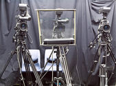 Camera in studio — Stock Photo