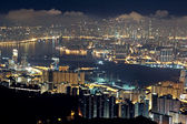 Hong kong city night — Stockfoto