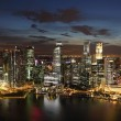 Downtown Skyline Singapore at twilight — Stock Photo