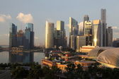 Downtown Skyline Singapore Sunrise — Stock Photo