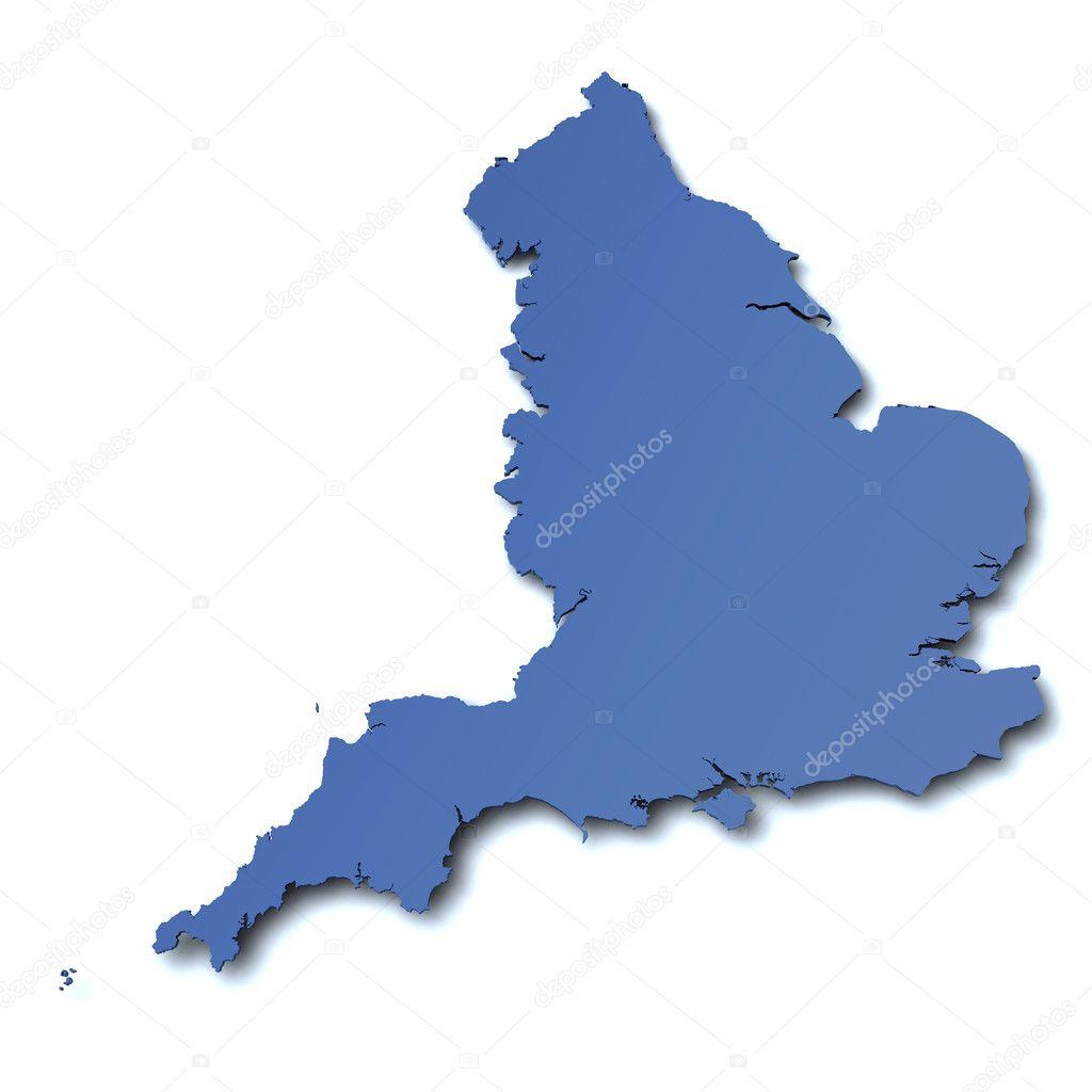 英国-英国的地图