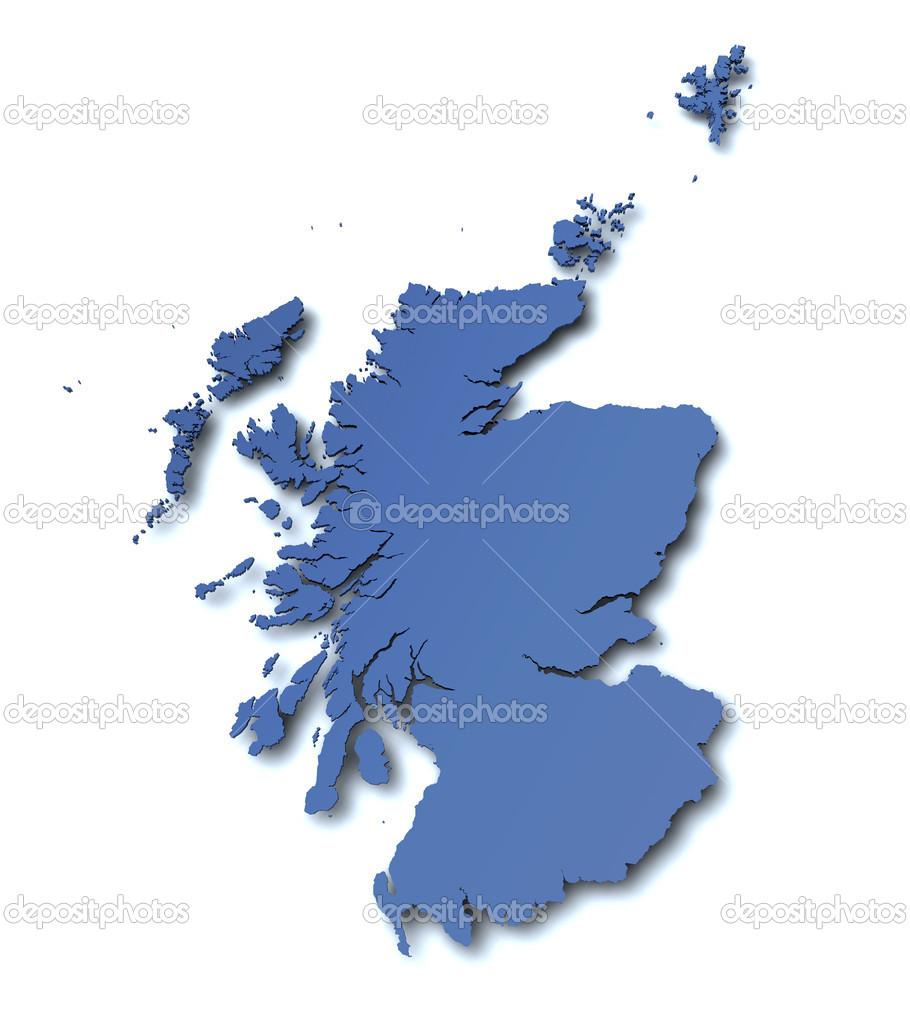 Map of Scotland - UK  Stock Photo #6262802