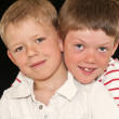 Close up of two adorable brothers — Stock Photo