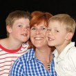 Mother and her two young sons — Stock Photo #5528281