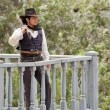 Cowboy Sheriff on guard duty — Stock Photo #5577364