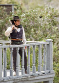 Cowboy Sheriff on guard duty — Stock Photo