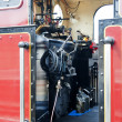 Stock Photo: Old Vintage Steam Train Cab