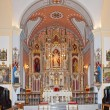 Main Altar of the Church of Santiago, Arboleas, Spain - Stock Photo