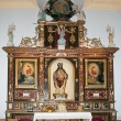 Side Altar of the Church of Santiago, Arboleas, Spain - Stock Photo