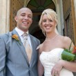 Stock Photo: Bride and Groom in sunshine