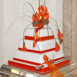 Close up of a wedding cake - Stock Photo