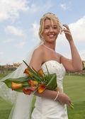 Bride in the sunshine — Stock Photo