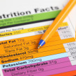 Nutrition facts — Stock Photo #6176575
