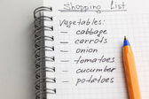 Shopping List — Stockfoto