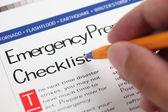 Emergency Checklist — Stock Photo
