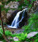 Second waterfall in gorge Ayu-Say — Stock Photo