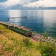 Stock Photo: Train on Trans Baikal Railway