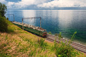 Train on Trans Baikal Railway — Stock Photo