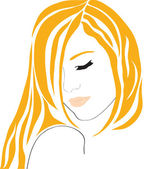 The beautiful abstract girl with red hair. — Stock Vector