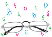 Mooie stijlvolle punten voor verbetering van het zicht. — Stockvector