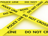 Police line do not cross. 3D — Stock Photo