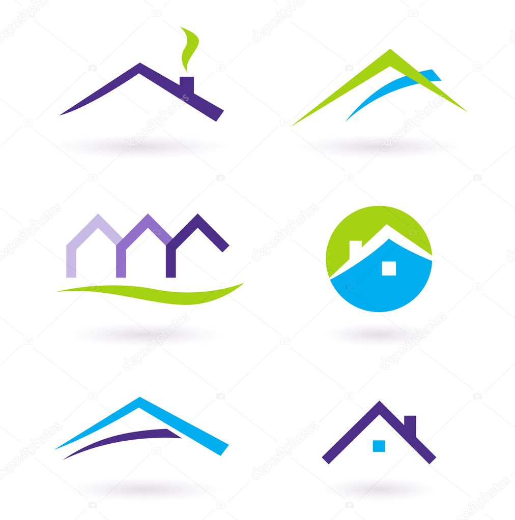 Collection of real estate / architecture icons. Vector format. — Imagens vectoriais em stock #5385643