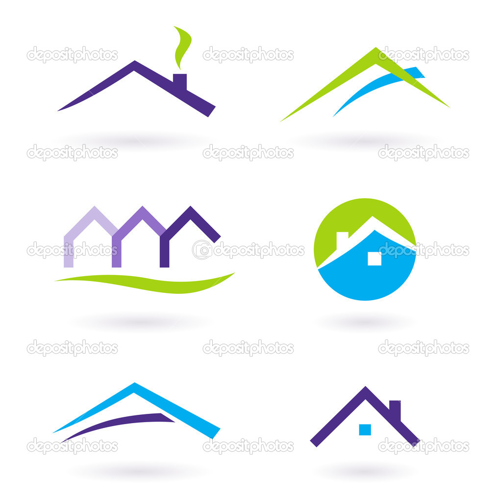 Collection of real estate / architecture icons. Vector format. — Stock Vector #5385643