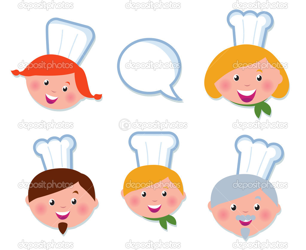 Vector Icon set - Food Service, Chef family.  — Imagen vectorial #5572722