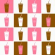 Fast food coffee cup background texture - pink and brown — Stock Vector #5750076