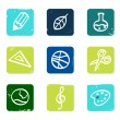 School and education icons set & elements isolated on white — Stock Vector