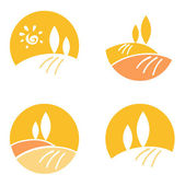 Abstract Country / Landscape design elements & icons - orange — Stockvector