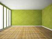 Empty room in green colour — Stock Photo