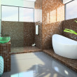 Modern interior of the bathroom — Foto de Stock