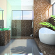 Modern interior of the bathroom — Stockfoto