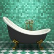 Modern interior of the turquoise bathroom — Foto de Stock
