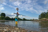 Little fisherman — Stock Photo