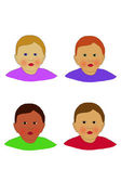 Four faces — Stock Photo