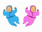 Babies illustration — Stock Photo