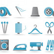 Textile objects and industry icons — Stock Vector #5554056