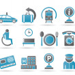 Airport, travel and transportation icons 2 — Stock Vector