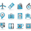 Airport, travel and transportation icons 1 — Stock Vector
