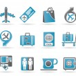 Airport, travel and transportation icons 1 - Stock Vector