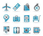 Airport, travel and transportation icons 1 — Stockvector