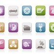 Car parts, services and characteristics icons - Imagen vectorial